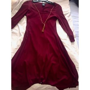 Rue 21 burgundy dress